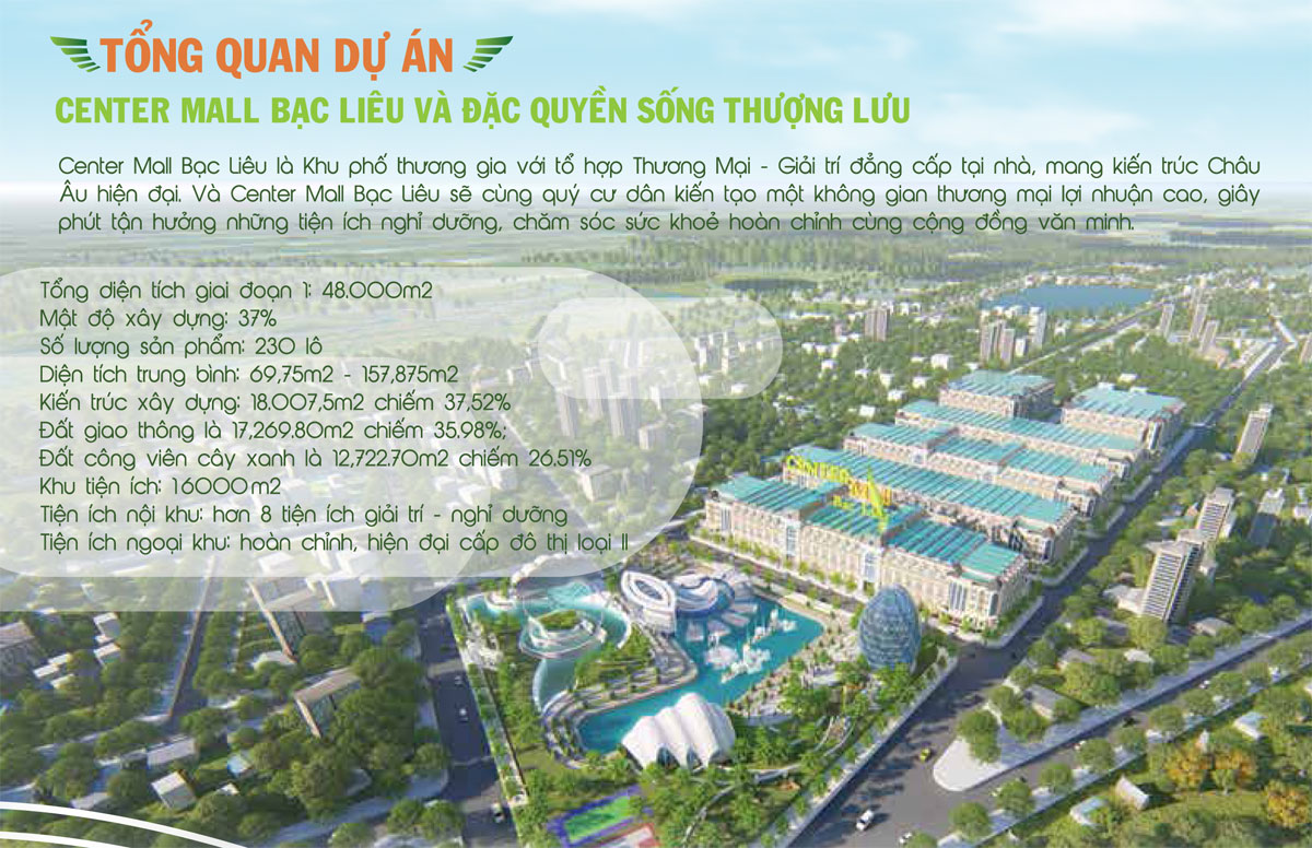 Du an Center Mall Bac Lieu 2 - Dự án Center Mall Bạc Liêu