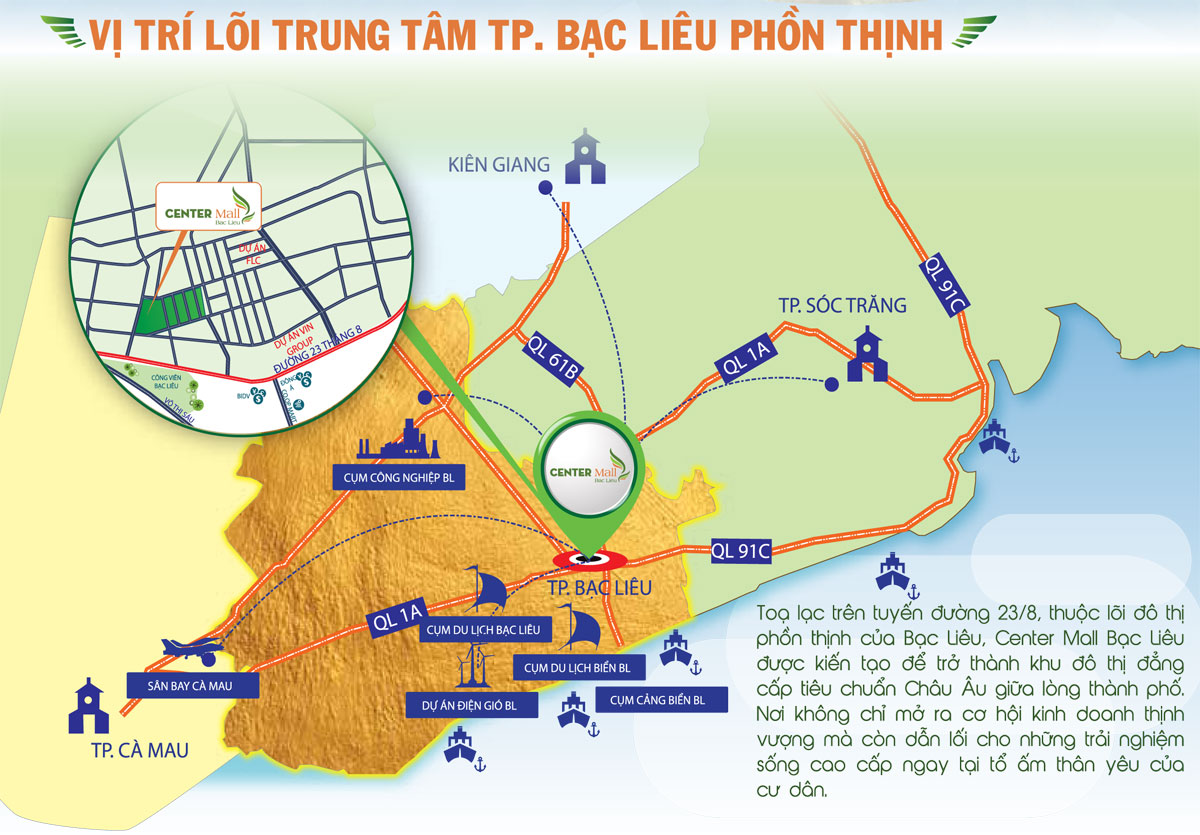 Du an Center Mall Bac Lieu 4 - Dự án Center Mall Bạc Liêu