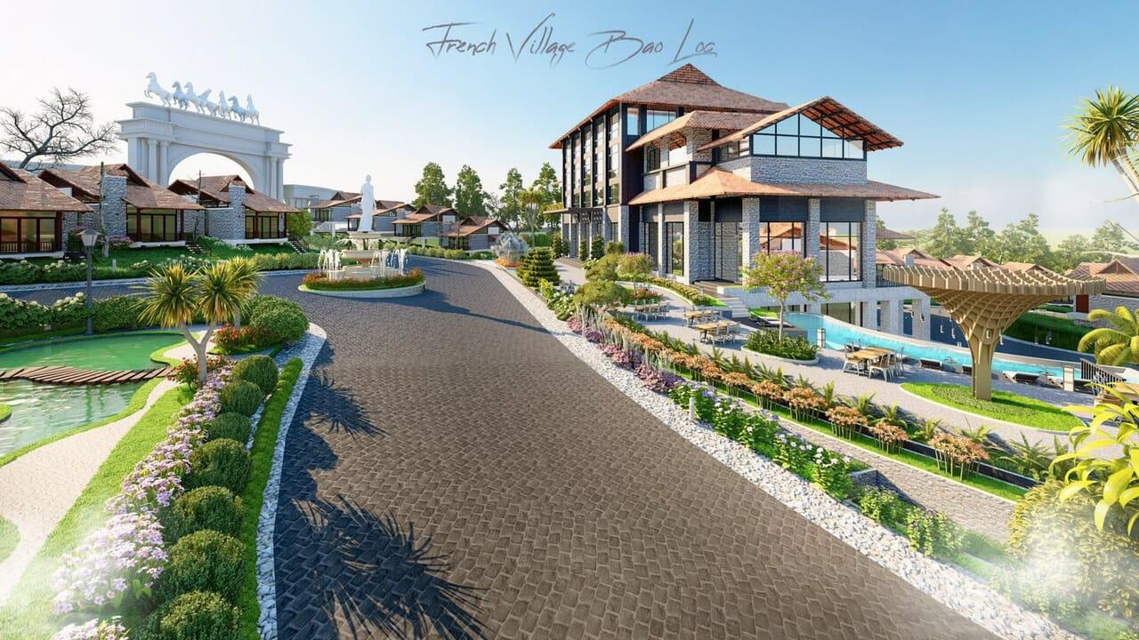 biet thu lang phap bao loc 15 - Biệt Thự Làng Pháp Resort & Spa Bảo Lộc
