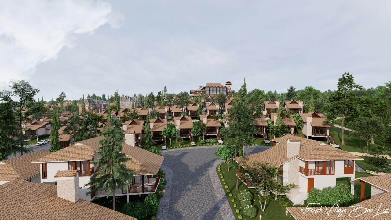 biet thu lang phap bao loc 4 - Biệt Thự Làng Pháp Resort & Spa Bảo Lộc