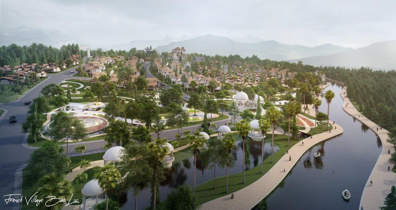 biet thu lang phap bao loc 5 - Biệt Thự Làng Pháp Resort & Spa Bảo Lộc