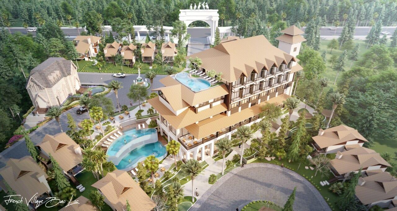 biet thu lang phap bao loc 7 - Biệt Thự Làng Pháp Resort & Spa Bảo Lộc