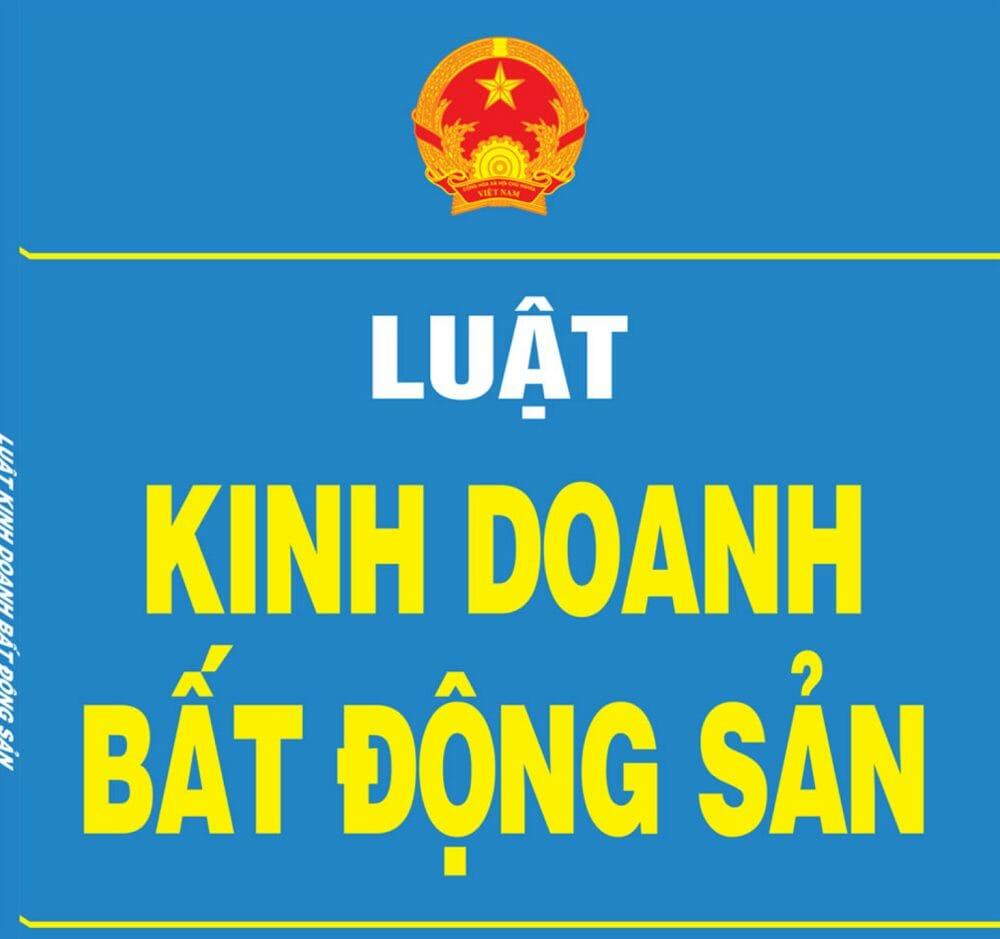 Luat kinh doanh bat dong san - Luật kinh doanh bất động sản