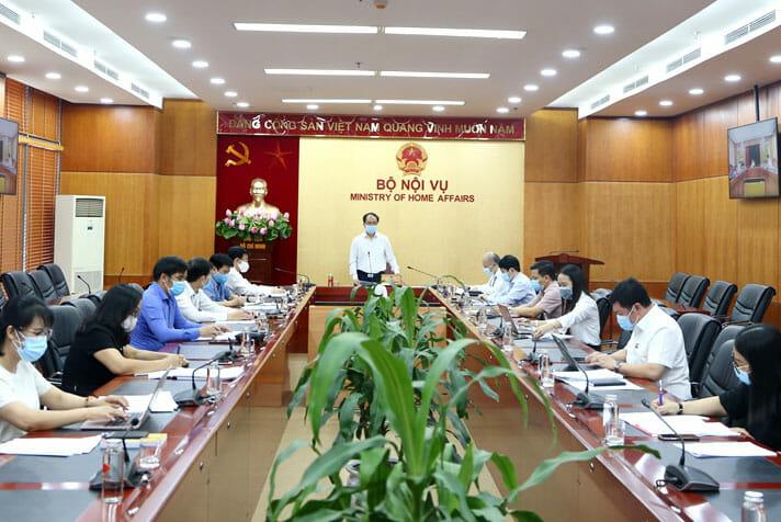 hoi nghi 1 1 - Hội nghị trực tuyến về cơ chế quản lý, sử dụng đất tôn giáo, tín ngưỡng