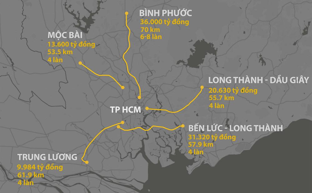 Cao tốc Tp HCM – Thủ Dầu Một – Chơn Thành